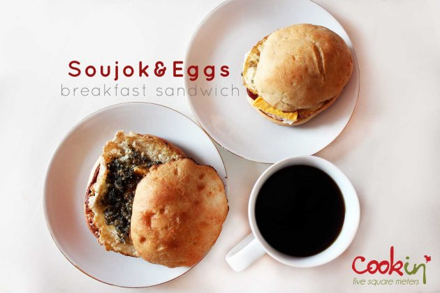 Soujok & eggs breakfast burger copy2