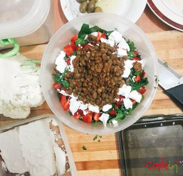 Greek-Inspired Lentils Salad - Lunch
