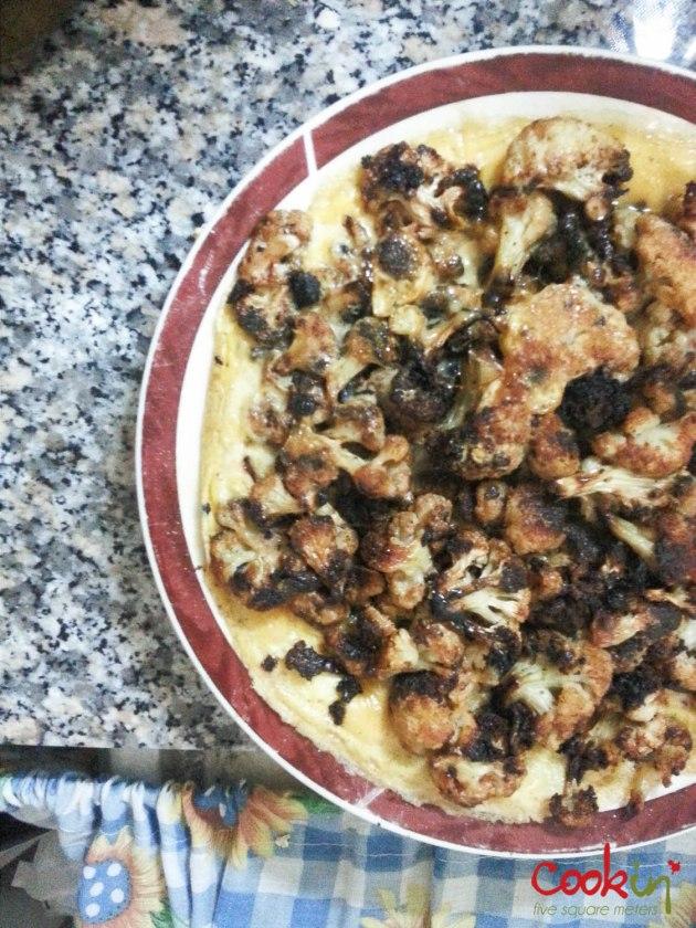 Leftover Cauliflower Omelette - Breakfast