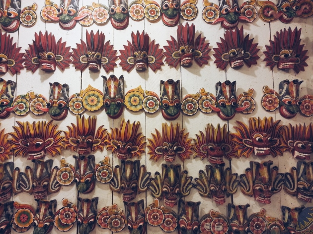 Traditional masks at the Wood Carving Factory