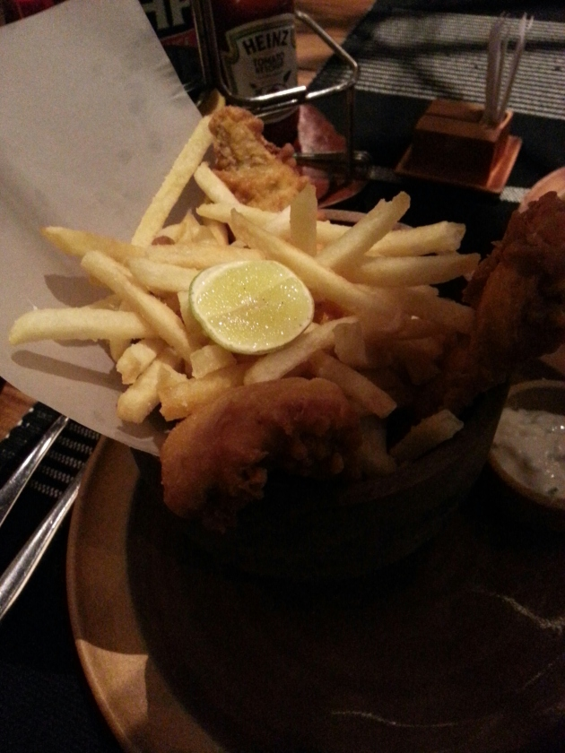 Fish and chips in WIP at the Dutch Hospital