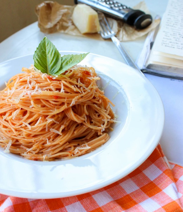 Basic Spaghetti with Tomato Sauce recipe - Cookin5m2-3