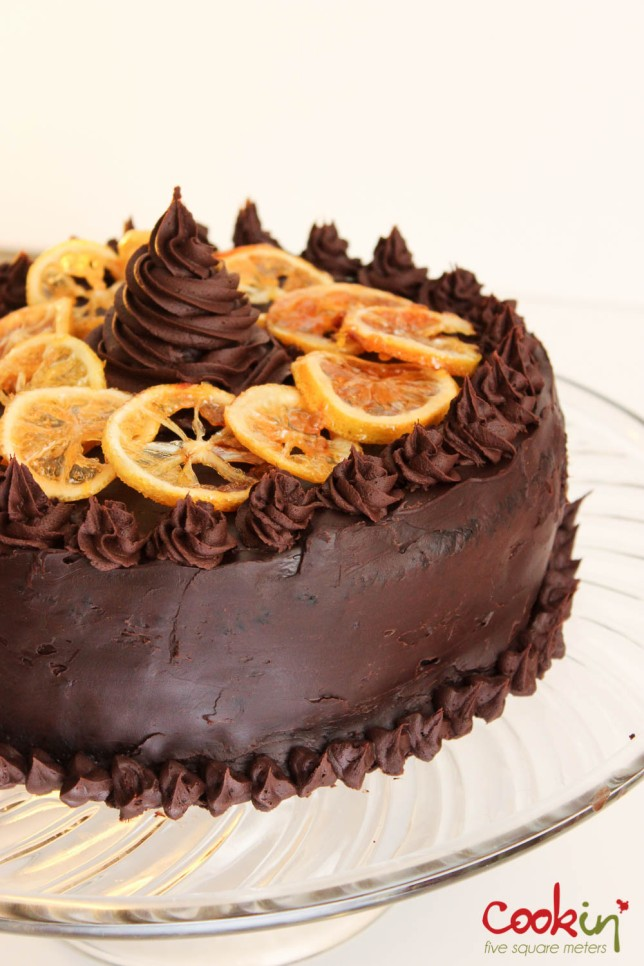 My 27th Birthday Chocolate Orange Cake with Candied Citrus Recipe - Cookin5m2-6