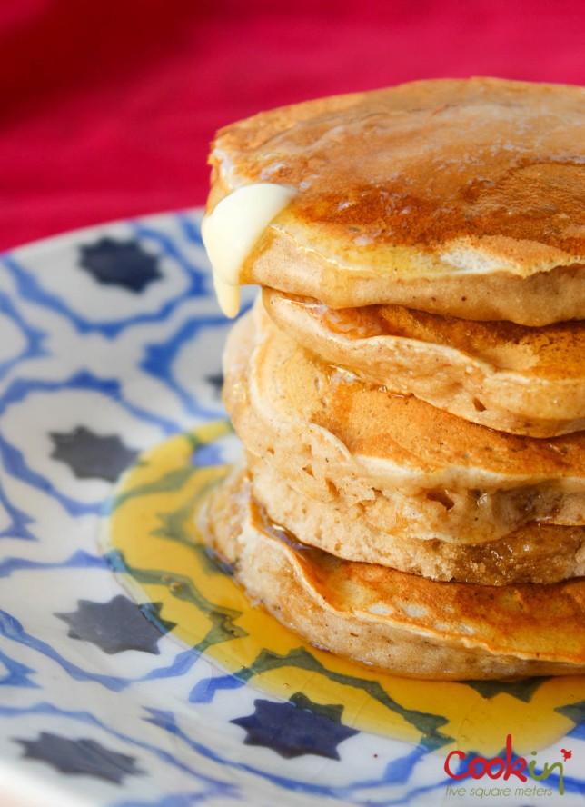 Apple Butter Bourbon Pancakes Recipe - Cookin5m2-2