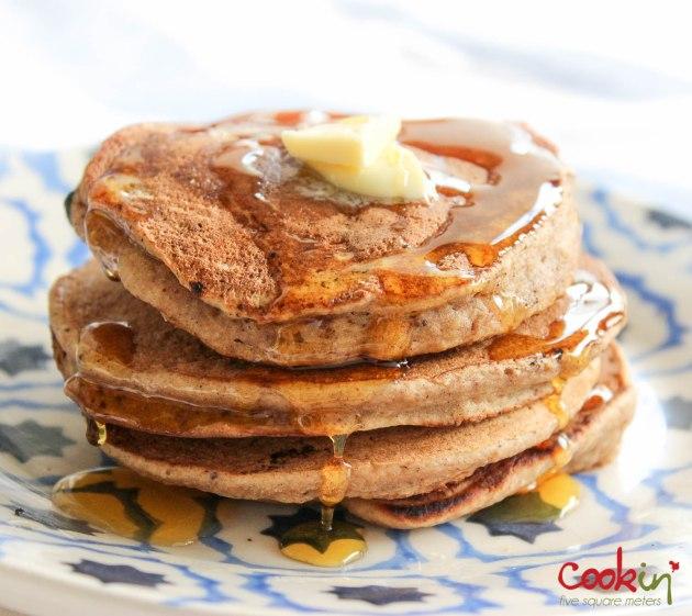 Apple Butter Bourbon Pancakes Recipe - Cookin5m2-8