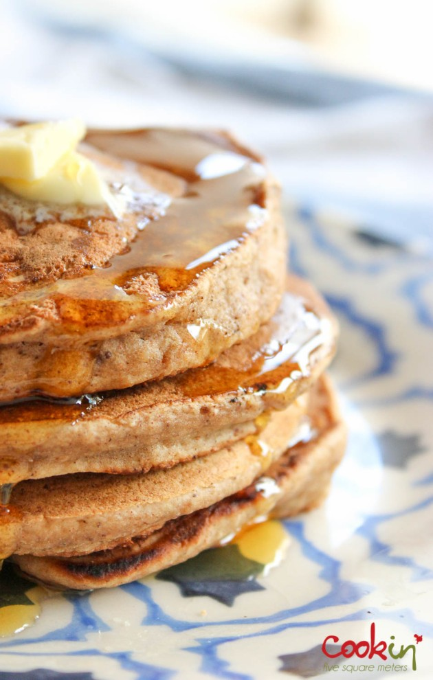 Apple Butter Bourbon Pancakes Recipe - Cookin5m2-9
