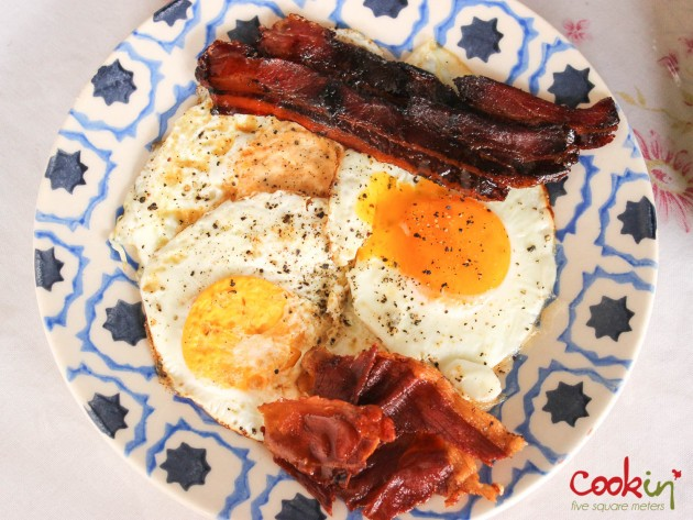 Bacon and Eggs Breakfast Recipe - Cookin5m2-1