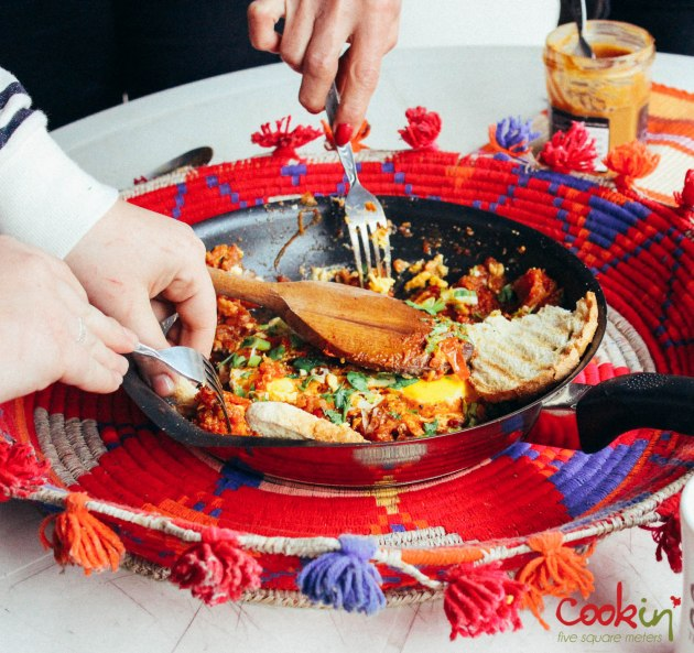 Shakshouka (Bayd bi Banadoura) Recipe - Cookin5m2-6