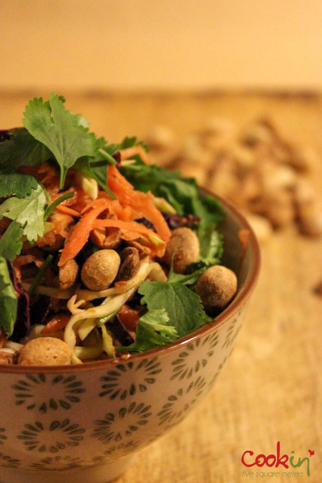 Asian slaw with peanut butter dressing recipe - Cookin5m2-1