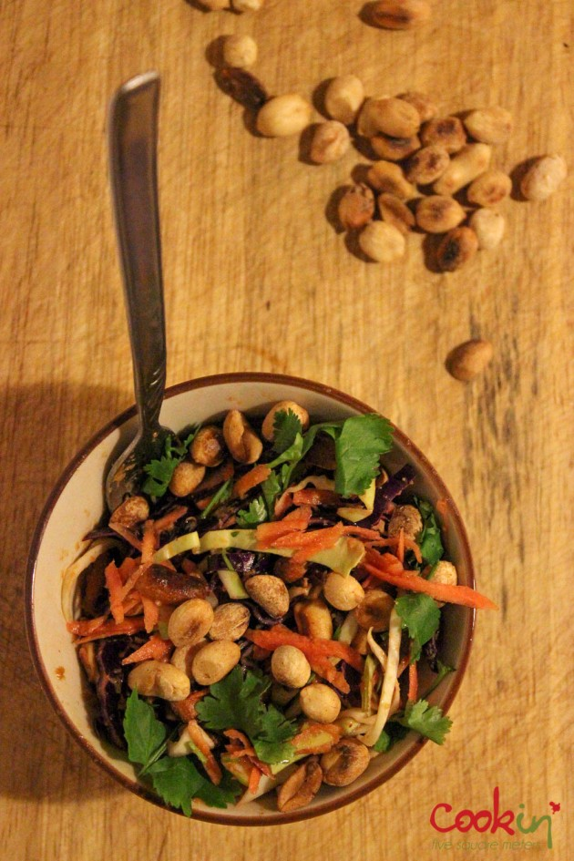 Asian slaw with peanut butter dressing recipe - Cookin5m2-3