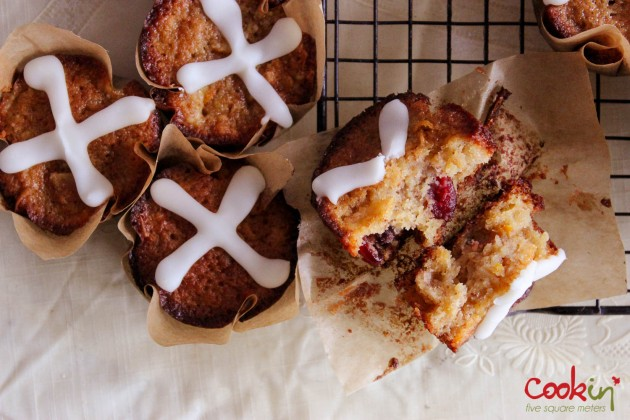 Easter Hot Cross Muffins From Jamie Oliver Magazine Recipe  - Cookin5m2-7