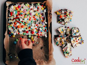Easter White and Dark Chocolate Bark Recipe  - Cookin5m2-3