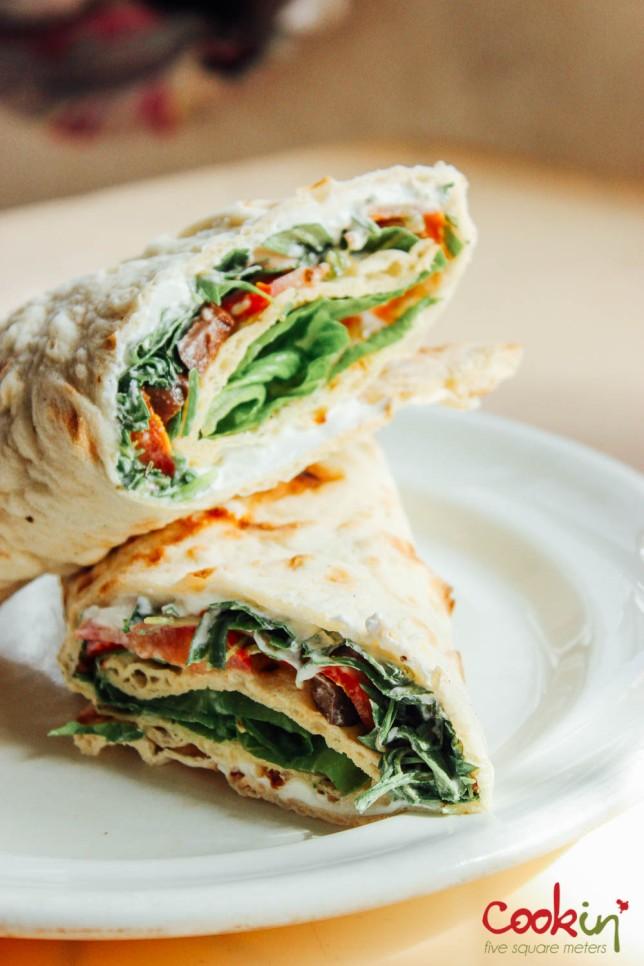 Labneh Sandwich in Wood-fired tannour bread recipe - cookin5m2-3