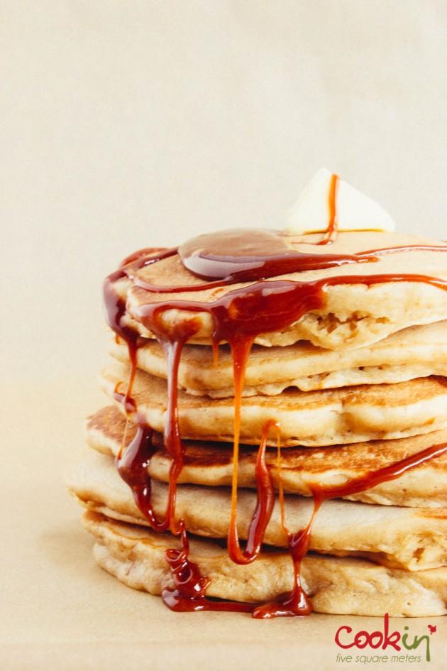 Caramel biscuit spoculoos lotus biscoff pancakes recipe - cookin5m2-4
