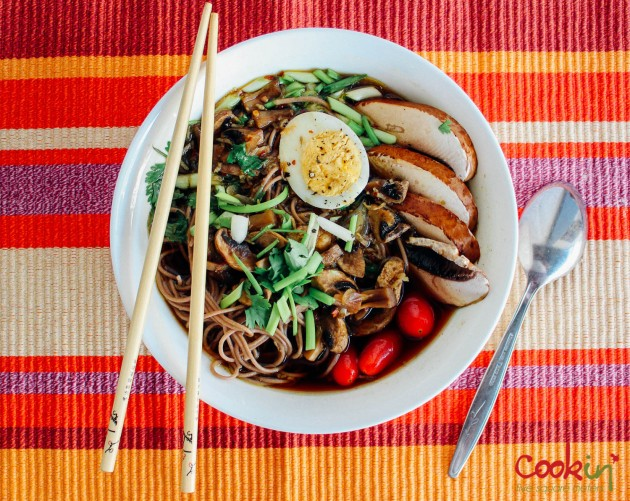 Vegetables Ramen Noodles Soup recipe - cookin5m2-2