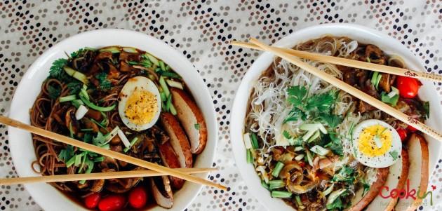 Vegetables Ramen Noodles Soup recipe - cookin5m2-7