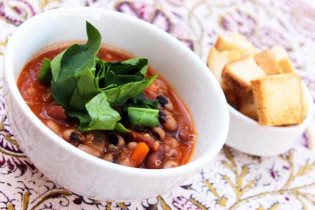 Vegan quinoa minestrone soup - cookin5m2 - 2