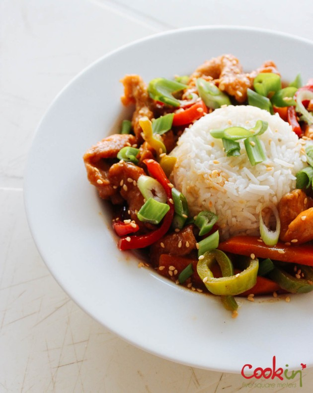 Asian Blood Orange Chicken recipe - cookin5m2-3