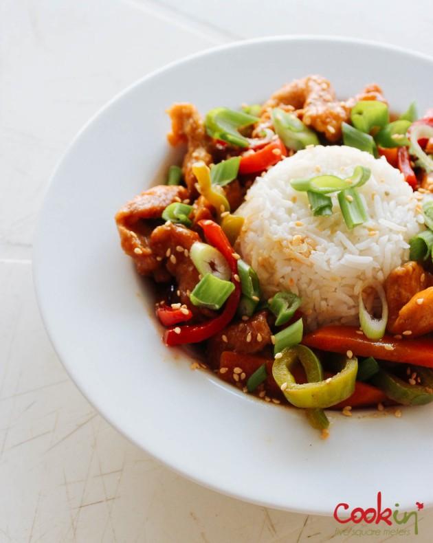 Asian Blood Orange Chicken recipe - cookin5m2-3