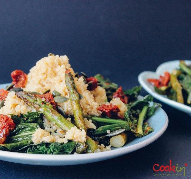 Quinoa kale asparagus salad recipe - cookin5m2-1