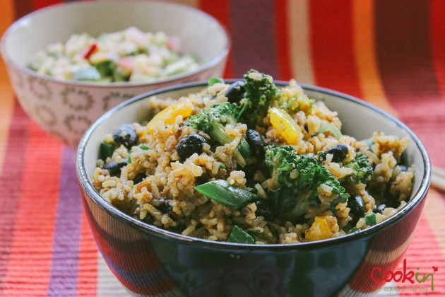 Black Bean Broccoli fried rice recipe - cookin5m2 -4