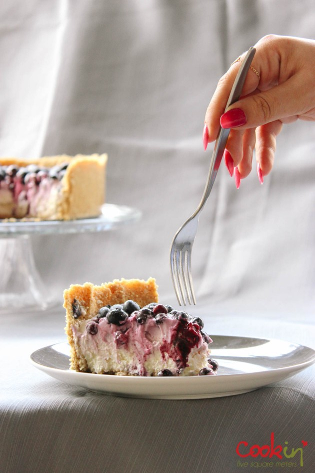 Blueberry Swirl Labneh Cheesecake recipe - cookin5m2 -17
