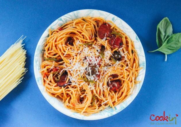Spaghetti alla Puttanesca, Prostitute's Spaghetti recipe - cookin5m2 -1