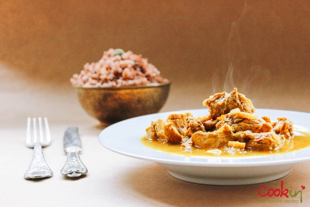 Chicken Curry with Aromatic Red Rice recipe - cookin5m2 -4