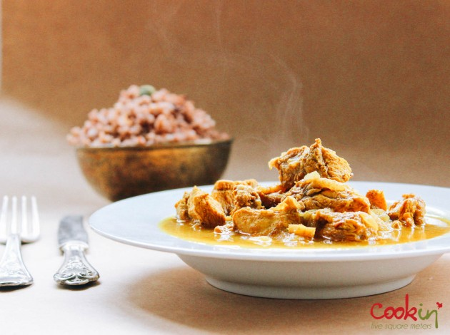 Chicken Curry with Aromatic Red Rice recipe - cookin5m2 -6