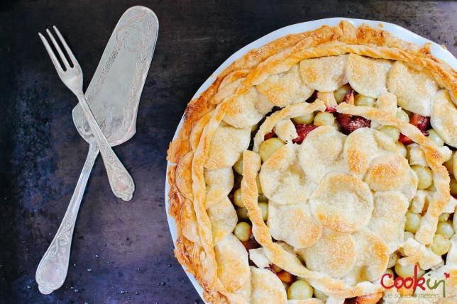 Grape and Plum Pie recipe - cookin5m2 -5