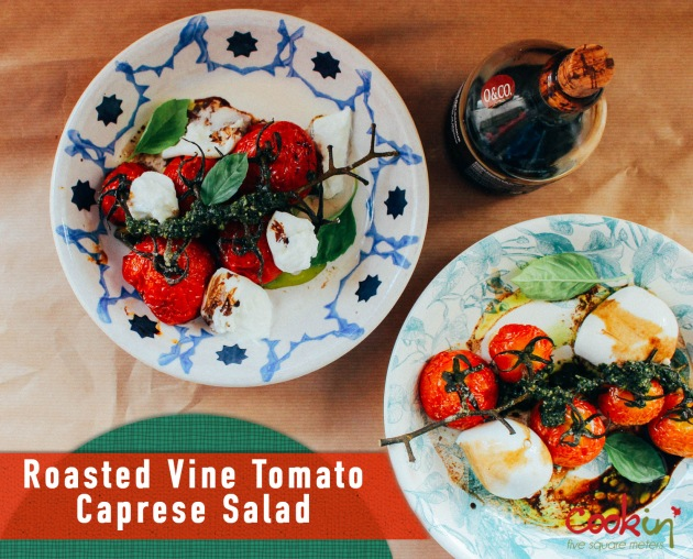 Roasted Vine Tomatoes Caprese Salad recipe - cookin5m2 -PIN