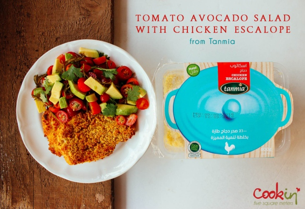 tanmia-escalope-with-tomato-avocado-salad-cookin5m2-pin