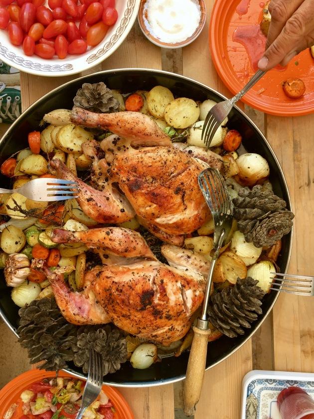 Marjoram and Pine Cone Roast Chicken - cookin5m2 -iphone