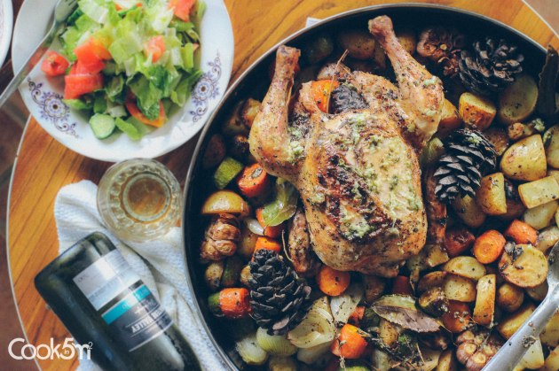 Marjoram and Pine Cone Roast Chicken Recipe - cookin5m2 -1086