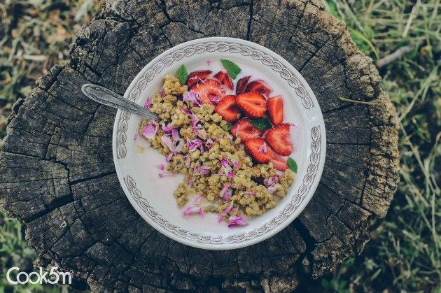 Strawberry Granola Bowl of Sunshine recipe - cookin5m2 -0997