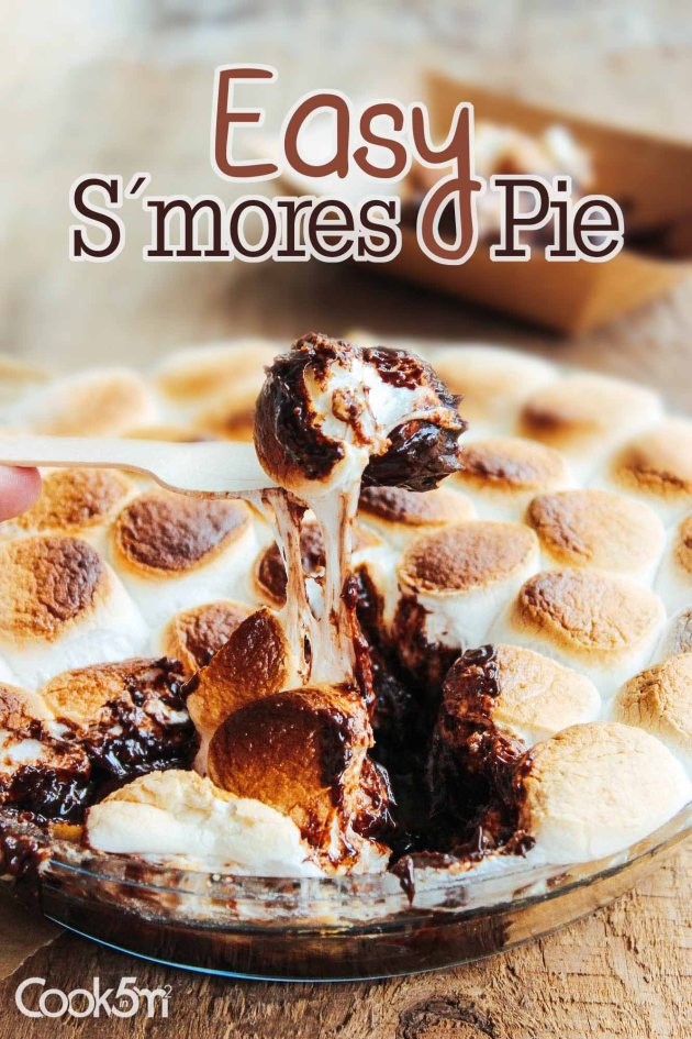 PIN-S'mores smores pie recipe - cookin5m2 -8654