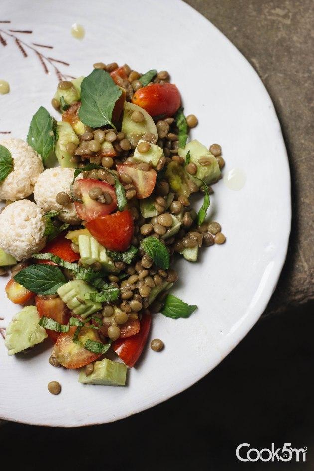 Lentil Labneh balls Kishk salad-3111