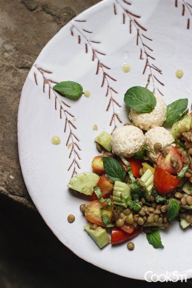 Lentil Labneh balls Kishk salad-3112